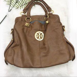Tory Burch Hobo Style Satchel Brown Bag Purse